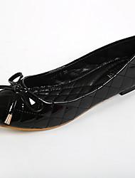 Women's Shoes Leatherette Flat Heel Comfort / Round Toe Flats Casual Black