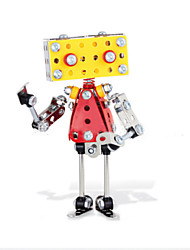 Puzzles 3D - Puzzle / Metallpuzzle Bausteine DIY Spielzeug Roboter 135pcs Metall Rot / Gelb / Silber Model & Building Toy