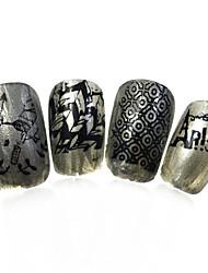 1pcs nieuwe 12x6cm image diy stamping platen nail art templates stencils voor polish xy-L27