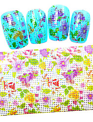 5PCS New 100x4cm 2016  Beautiful Flower and Green leaves Glitter  Nail Foils  DIY Decorations Nail Art Sticker STZXK57