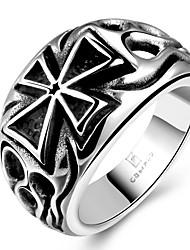 Cross Design RingPunk Style Titanium Fashion Jewelry For Men Dress AccessoriesTS GMYR176