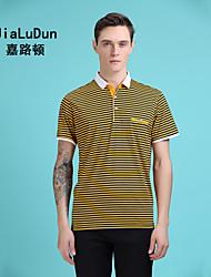 2016 New Fashion Men's Polo Shirt Striped T Shirt Blue Red Yellow Short Sleeve Shirt Europ American stylish Luxure Shirt