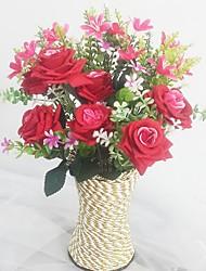 Seda / Plástico Orquideas / Rosas Flores artificiais