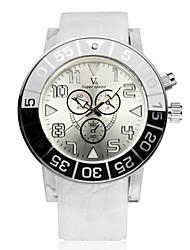 V6® Men's Fashion Analog Display Rubber Band Quartz Watch Cool Watch Unique Watch