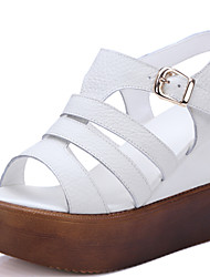 Women's Shoes Leather Platform Comfort / Open Toe Sandals Casual White