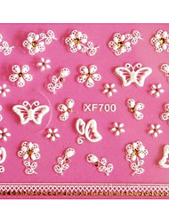 3D Emboss Butterfly Nail Stickers