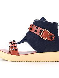 DamenKleid / Lässig-Denim Jeans-Keilabsatz-Neuheit / Modische Stiefel-Blau