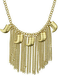 Punk Rock Gold Plated Long Tassel Necklace