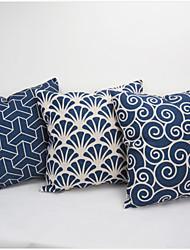Pillow Case Blue and white porcelain Retro Home Decorative Cotton Linen Blended Crown Throw Comfortable Back