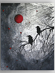 Oil Painting Two Bird in the Tree Hand Painted Canvas with Stretched Framed Ready to Hang