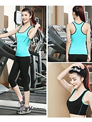 Women Sexy Fashion Sports Casual Running Suit Yoga Sets Gym Suits (Suits =Bra Vest + Vest +Half Pants)