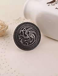 Movie Jewelry Song Of Ice And Fire Game Of Thrones Targaryen Dragon Badge Brooch Retro Collar Pin For Men Wholesale