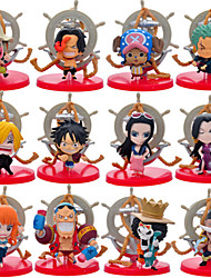 One Piece 12 Q Version on New World One Piece Family Portrait Doll Pirate Ship Anime Action Figures Model Toy