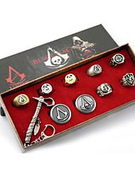 Attentäter setzen Emblem creed 3cm Legierung 7cm Schlüssel Axt mehr Zubehör Ring (19 mm)