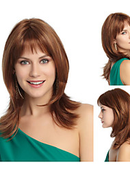 Fashionable Synthetic African American wigs Medium Length Wavy hair wig for women Sexy Natural wigs with Bangs sw0052