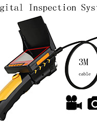 "Digital Inspection System   3M/ 8.2mm Tube Snake Camera Inspection Borescope Video DVR 3.5"" Monitor 6 Leds Night Vision"