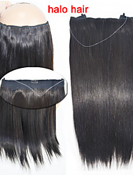 Hot Sale Straight Human Hair 100g/bag Flip in Hair Extension #1B Black Halo Hair Extensions 16''-20''