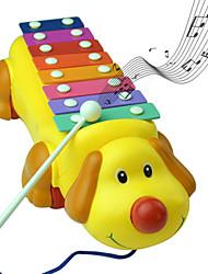 chien mignon rythme coloré pianos jouets instruments de musique de musique
