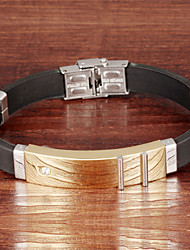 Stainless Steel Men Silicone Bracelet