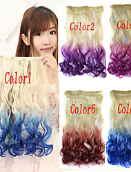 Popular New Double Color Curly Synthetic Hair Extention