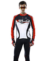 Mysenlan Cycling Jersey Men's Long Sleeve Bike Jersey Tops Breathable Lightweight Materials Polyester Terylene Classic FashionSpring