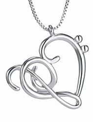 New Korean Jewelry Pierced Heart Necklace