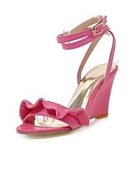 Women's Shoes Wedge Heel Wedges / Peep Toe Sandals Outdoor / Office & Career Black / Red
