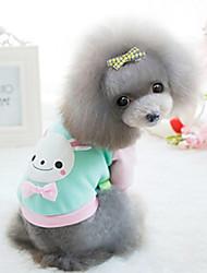 Dog Shirt / T-Shirt Green / Blue / Pink / Yellow Dog Clothes Winter Fashion