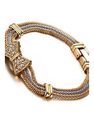 bowknot incrustado de diamantes pulseira de 18 k pisos pulseira senhora