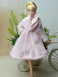 Barbie Doll Pink Polar Fleece Dresses Tops