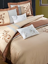 Luxury Embroided Pattern Bedding Set Queen King Size Bedclothes