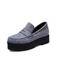 Серый - Женская обувь - Для прогулок / Для праздника / На каждый день - Полотно - На платформе - На платформе / Криперы / С круглым носком