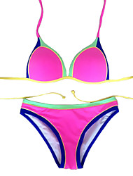 Women's Color Block Beach Wear Swimwear Bikini