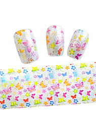 10pcs 100cmx4cm  Flower And Butterfly Wave Glitter  Nail Foil Sticker  DIY Beauty  Nail Decorations   STZXK01-49