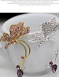HUALUO@Earring Jewelry Girls personality Earrings butterfly earrings fashion earrings ear clip female [single Price]
