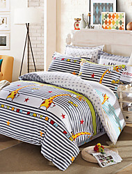 Markdown Sale Giraffe Bedding Set Funny Deer Striped Bed Linen for Living Room parure de lit adulte Bedding 4Pcs Queen