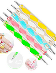 5Pcs/Set High Quality Two-Way Dotting Pen Marbleizing Painting Tool Nail Art Dot Set Random Color