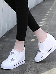 Women's Shoes Increased Within Hollow Out Casual Wedge Heel Comfort / Round Toe Fashion Sneakers