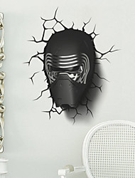 Exquisite Star Wars Cool Darth Vader PVC Wall Sticker Wall Decals with Transfer Film