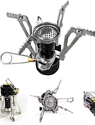 Portable Collapsible Outdoor Camping Backpacking Stove Butane/Butane-Propane Burner with Piezo Ignition System