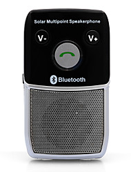 Solar Hands-Free Bluetooth 4.1 Car Kit Speaker Phone Auto Voice Prompt