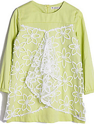 Girl's Green Dress Cotton Spring / Fall