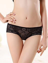 Women's Temptation sexy see through lace low waist briefs