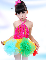 Performance Children's Fashion Lovely Flowers Performance Cotton Dresses Dance Costumes