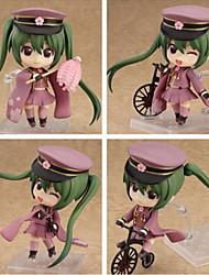 Vocaloid Hatsune Miku PVC One Size Anime Action Figures Model Toys 4pcs 10cm