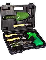 herramientas de jardín cubiertos de 6 piezas en una caja