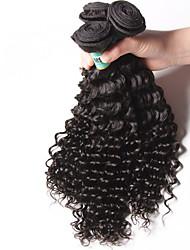 Tissages de cheveux humains Cheveux Malaisiens Ondulation profonde 18 Mois 3 Pièces tissages de cheveux