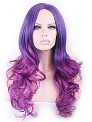 European and American Popular Anime Wigs COS Curly Hair Wigs Two Color Gradient Wig Spot Wholesale in Europe and America