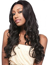 "8""-24"" Brazilian Virgin Hair 100% Human Hair Lace Wigs Loose Wave  hair Lace Wigs"