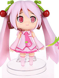Vocaloid Sakura Miku PVC One Size Anime Action Figures Model Toys Q Version 1pc 10cm